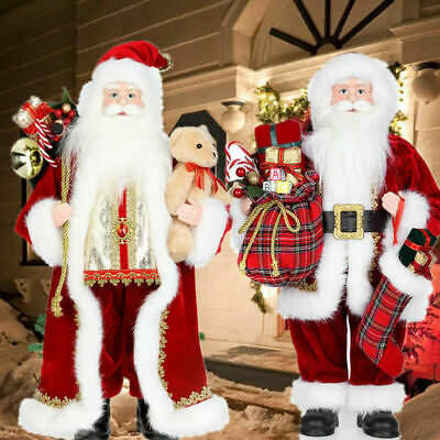 18'' Christmas Standing Santa Claus Father Figure Xmas Indoor Decoration Gift