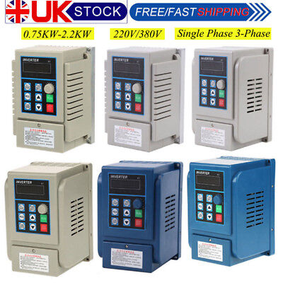AC 220V 0.75/2.2KW 5A Single Phase Variable Frequency Speed Drive VFD Converter.