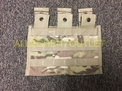 USGI Military MOLLE II 3 Mag Side by Side Magazine Pouch OCP/Multicam VGC
