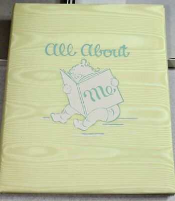 Vintage NIB ALL ABOUT ME Baby Album / Records / Pictures ~ Retro 60's Great Gift