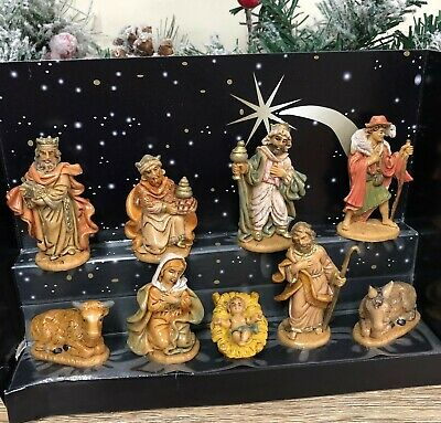 Traditional Nativity Figures Set Christmas Holy Ornament ~ 9 Figurines 89340