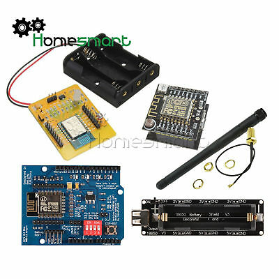 3DBI Gain Antenne ESP8266 Serial Wifi Modul Extend Tafel 18650 Battery Shield