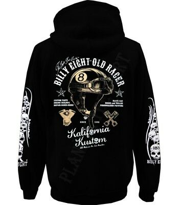 Sweat capuche Billy Eight fermeture zip  -*- Old Racer  -*-