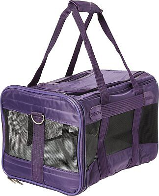 Sherpa Original Deluxe Pet Carrier, MD Plum Actions