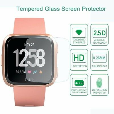 9H Clear Tempered Glass Film Screen Protector Front Guard For Fitbit Versa Smart