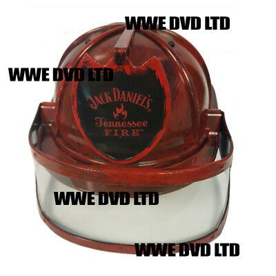 JACK DANIELS - TENNESSEE FIRE BRANDED - FIRE MANS HELMET WITH VISOR - New