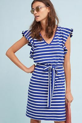 fc40ba6ed66d0 ANTHROPOLOGIE FLUTTER-SLEEVE STRIPED DRESS size M new with tag ...