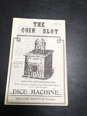 Issue # 5 dated Jan 75 THE COIN SLOT DICE MACHINE NEWSLETTER