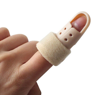 Plastic Mallet Finger Splint DIP Joint Support Brace Protection Fracture Pain 6A