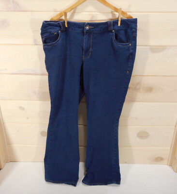 Lane Bryant Women's Sz 18 Distinctly Boot Cut Jeans Stretch Denim Dark Wash