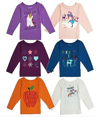 Shirt T Long Sleeve Toddler Baby Girls Tee Top Blouse Cotton Clothes Months - 6X