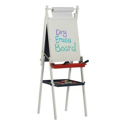 Studio Designs Kid S White Foldable Dual Sided Easel With Storage Tray