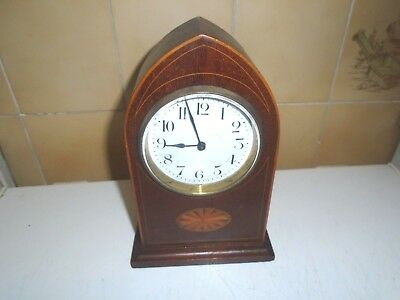 Good Antique (Late Victorian/edwardian) Inlaid Mantle Clock With French Movement