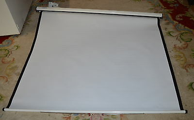 LARGE WALL MOUNTED PROJECTOR PROJECTION SCREEN BY PROJECTA collection only