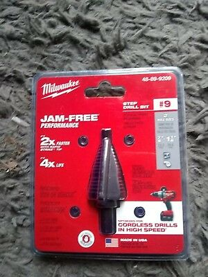 "Milwaukee 48-89-9209 #9 Step Drill Bit 7/8"" ~ 1-1/8"" New"