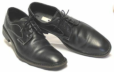 JOSEPH ABBOUD 'Ryan' Size 13 M Black Pebbled Leather Classic Dress Oxfords