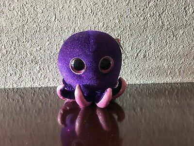 6 Inch Ty Beanie Boos Exclusive NEW MWMT INKY the Purple Octopus