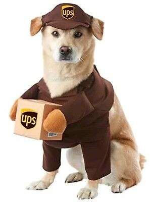 California Costume Collections PET20151 UPS Pal Dog Costume, Large Halloween