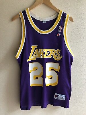 fc950545bee EDDIE JONES  25 Los Angeles LAKERS VTG CHAMPION Jersey - Size 40 ...