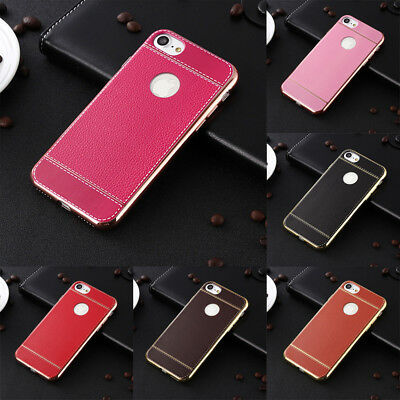 For iPhone Ultra Thin Luxury Genuine PU Leather Soft TPU Shockproof Case Cover