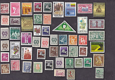 25 All Different LITHUANIA Stamps