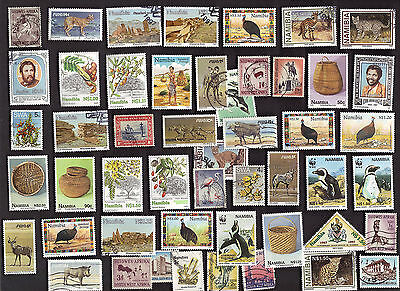 50 All Different  SOUTH WEST AFRICA  & NAMIBIAStamps