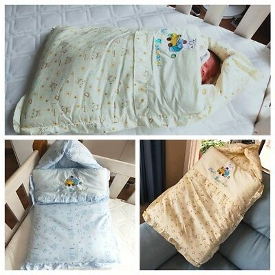 Newborn Baby Infant Winter Swaddle Wrap Blanket Warm Sleeping Bag Thick Cover