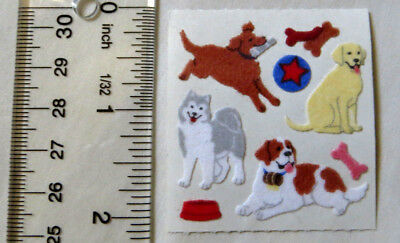 Sandylion FUZZY SCOOBY-DOO IN LOVE 1 Square RARE RETIRED Stickers LIMITED