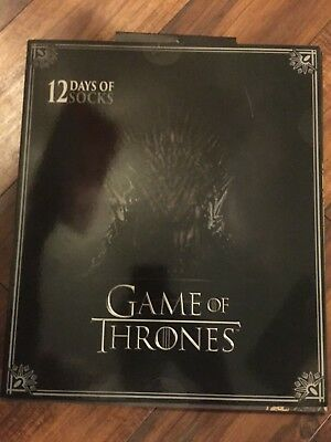 Game of Thrones 12 Days of Socks  Gift Set Shoe Men Size 6 to 12