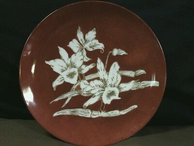 Gorgeous Antique Haviland France Hand Painted Red w/White & Gold Floral Plate