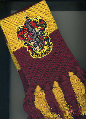 Boys Girls Scarf Official Harry Potter Gryffindor House Knit Rubies Deluxe