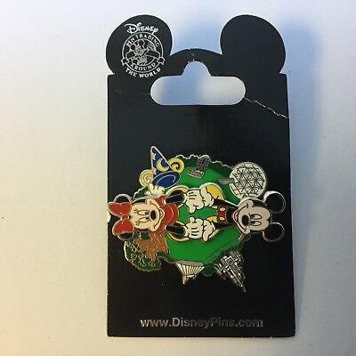 WDW - 4 Park Spinner Mickey & Minnie - Re-released Variation Disney Pin 88545