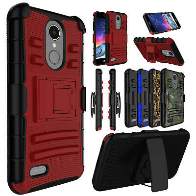 For LG Phoenix 4/Rebel 4 Case Shockproof Belt Clip Holster Kickstand Phone Cover