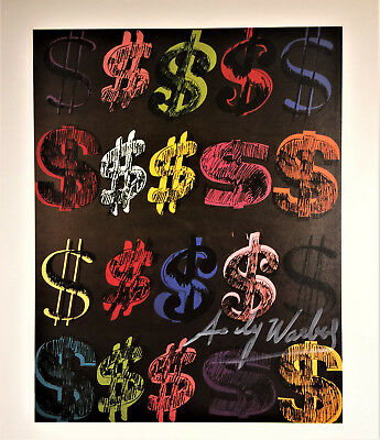 Andy Warhol Signed * Dollar Sign * Print