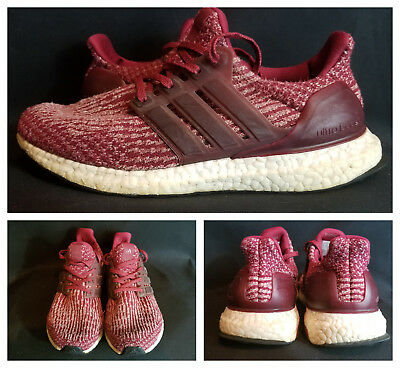 b8a34abbc Adidas Ultra Boost 3.0 Collegiate Burgundy Red White BA8845 Running Mens  Shoes