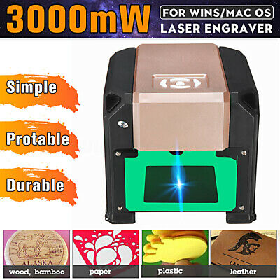 3000MW Desktop Laser Engraving Cutting Machine CNC Cutter DIY Logo Engraver USB