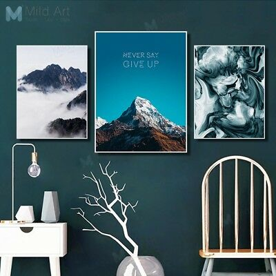 Modern Abstract Mountain Landscape Posters Nordic Decor Wall