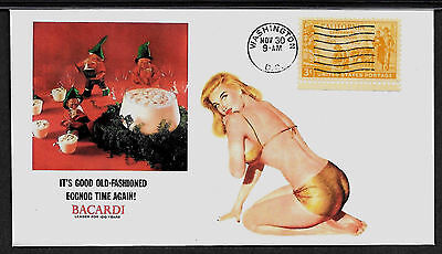 1955 Bacardi Xmas ad Featured on Collector's Envelope *A154