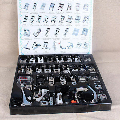 93AC 32PCS Domestic Sewing Machine Presser Feet Set for Brother Singer Janome