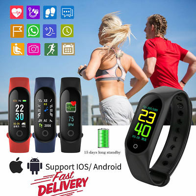 Reloj inteligente Smart Watch Ritmo Cardiaco Deportiva Pulsera Fitness Tracker