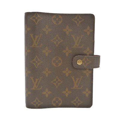 Auth LOUIS VUITTON Agenda MM Day Planner Cover Monogram Canvas R20105 #S205036
