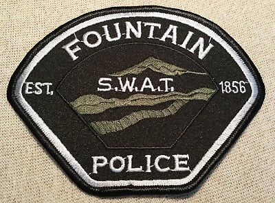 CO Fountain Colorado SWAT Police Patch