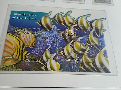 Pitcairn Islands 2001 Sg Ms604 Reef Fish Mnh