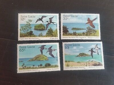 St Lucia 1985 Sg 820-823 Nature Reserves Mnh (T)