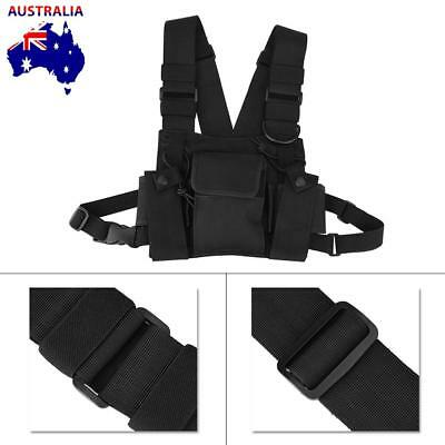 Radio Walkie Talkie Chest Pocket Harness Bags Pack Backpack Holster Two Way New