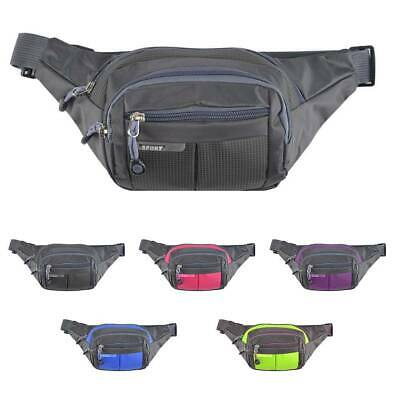 Running Unisex Bum Bag Travel Handy Hiking Sport Money Pack Waist Belt Zip Pouch