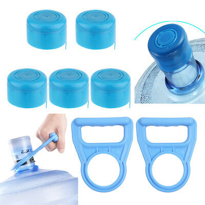 Non-Spill Caps Anti Splash Bottle Lids Reusable 55mm Gallon Water Jug Handle Set