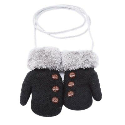 Children's Rope Gloves Winter Wool Knitted Design For Kids Baby Girls 6A