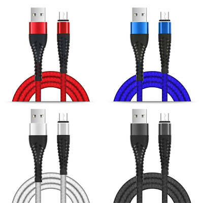 3M/10ft Braided Long USB Data Cable Charging Charger for iPhone 6 6S 7 8 X XR XS