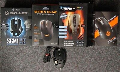 Posten 5 Stk. PC / Gaming Mäuse, u.a. Mad Catz, Roccat, defekt #96